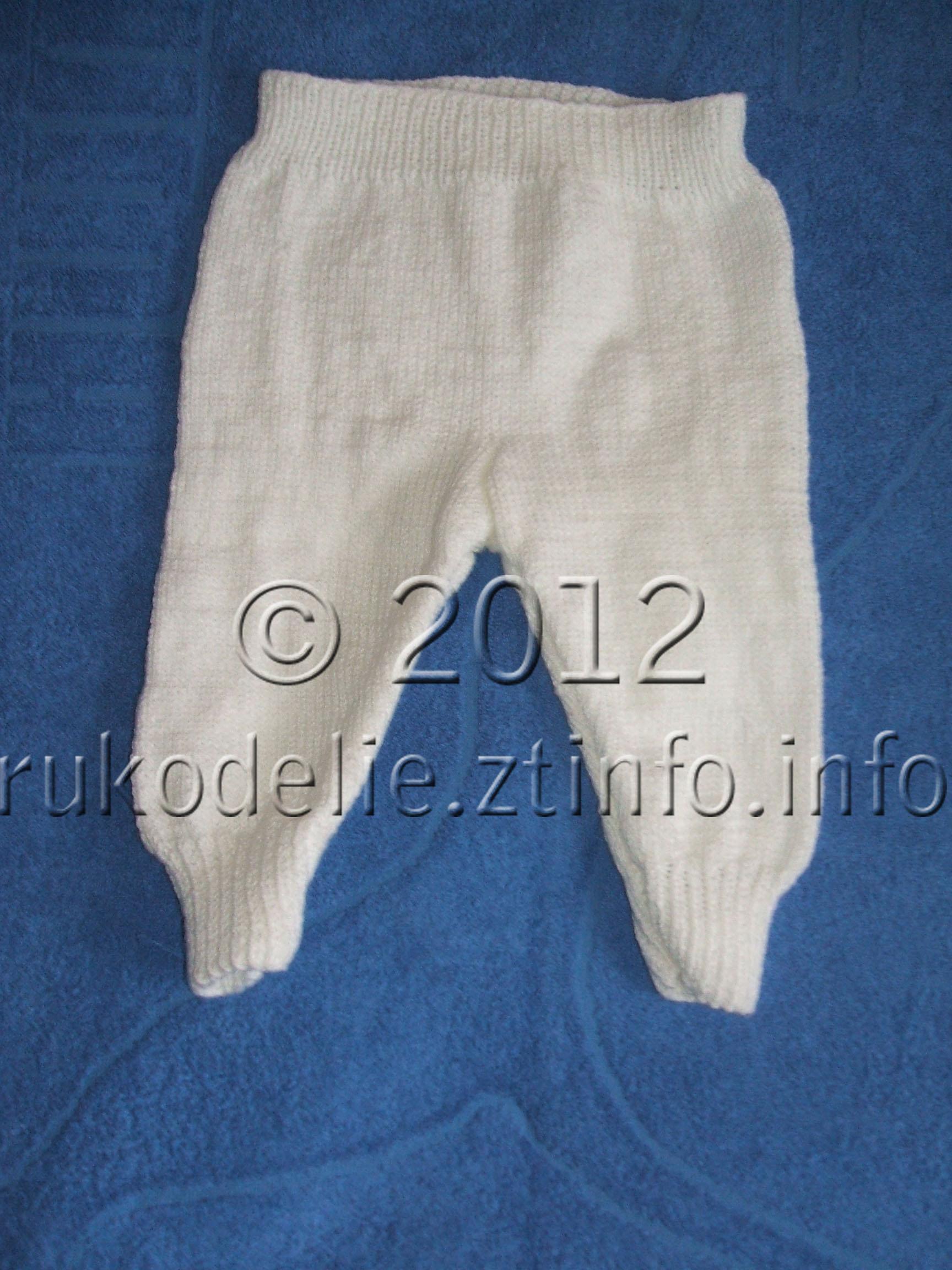 Как связать спицами штанишки для малыша 100