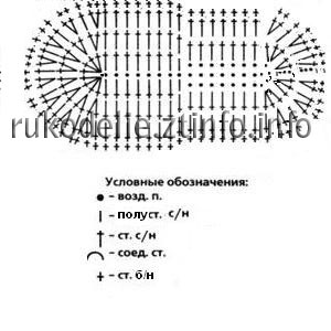 образец вязания кеды-пинетки