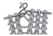 Провязывание петли из протяжки