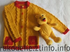 Стильный желтый жакет для девочки 5-6 лет