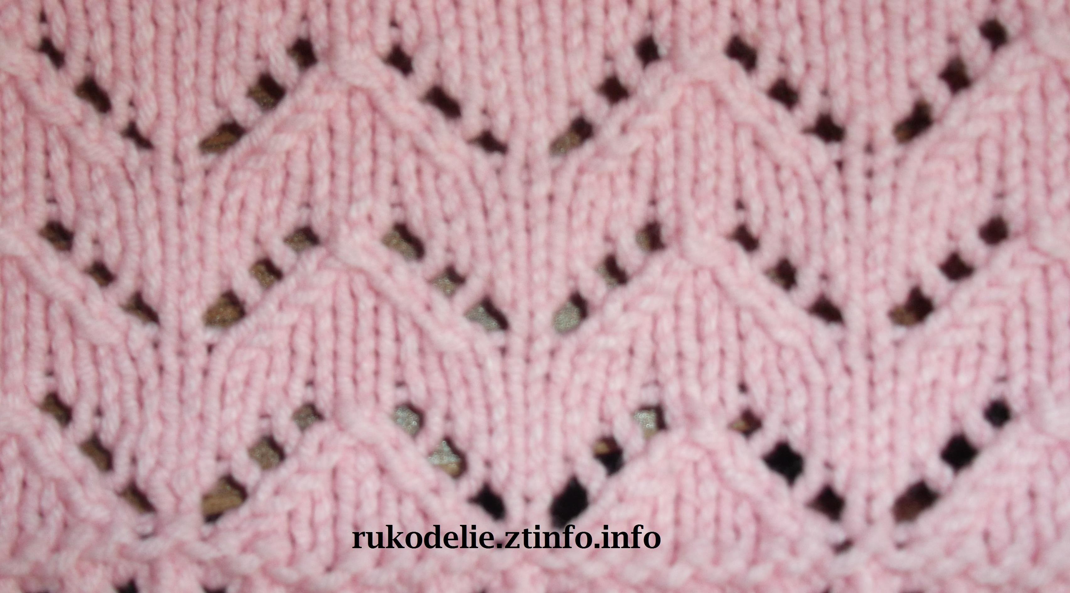 Узоры вязание спицами с накидом 45