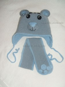 шапочка и шарфик мишка-тедди