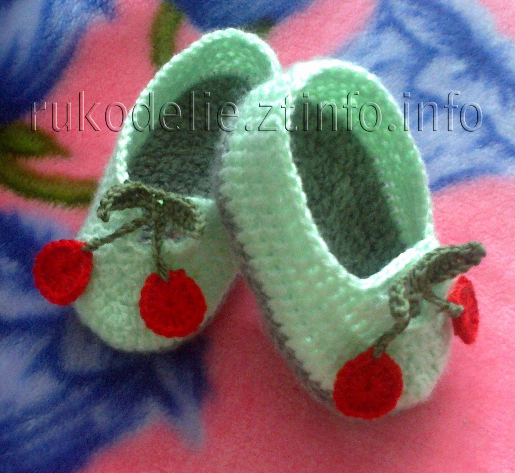 Вязание детских пинеток-кед спицами Подробное