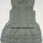 Серый ажурный сарафан для девочки