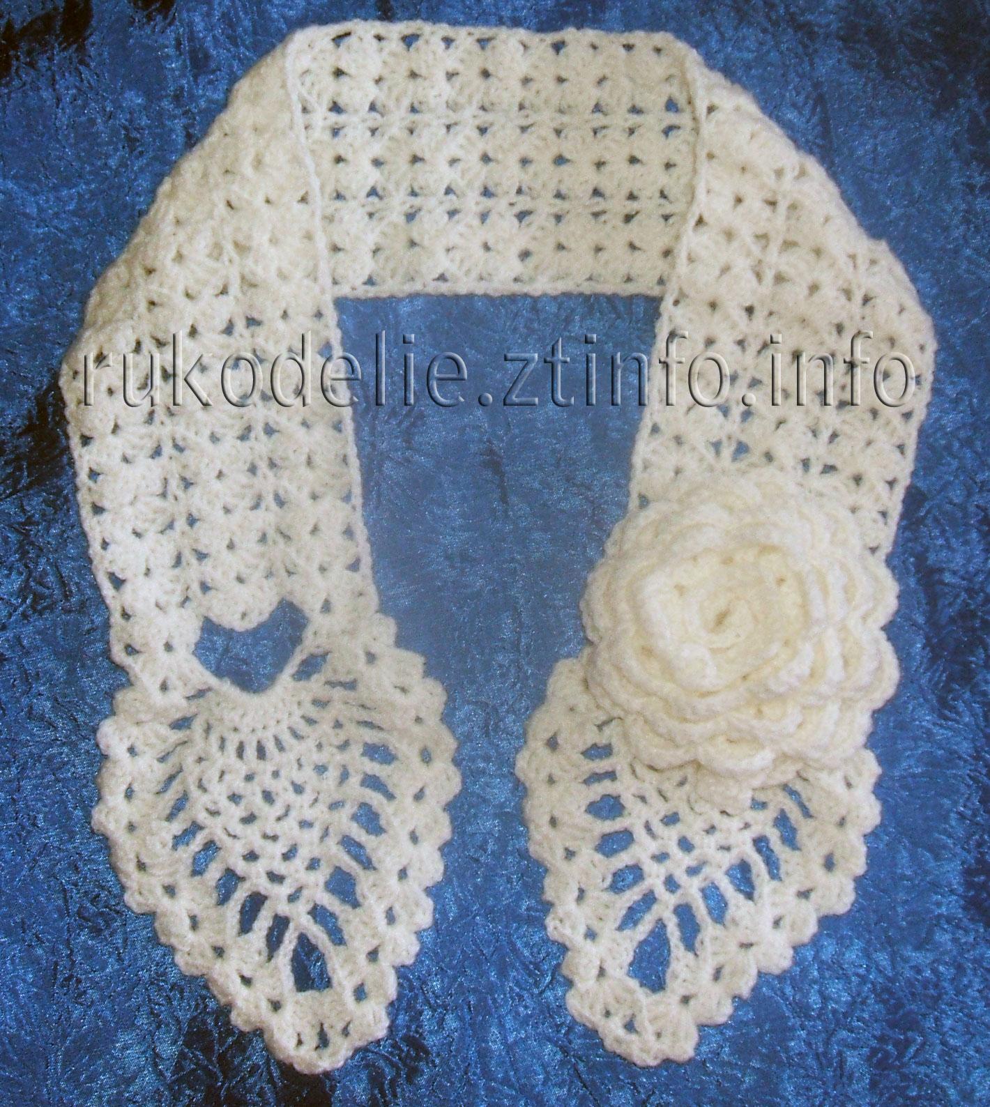 Вязание крючком красивого шарфа 8