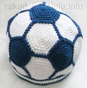 шапочка-футбольный-мяч-сверху