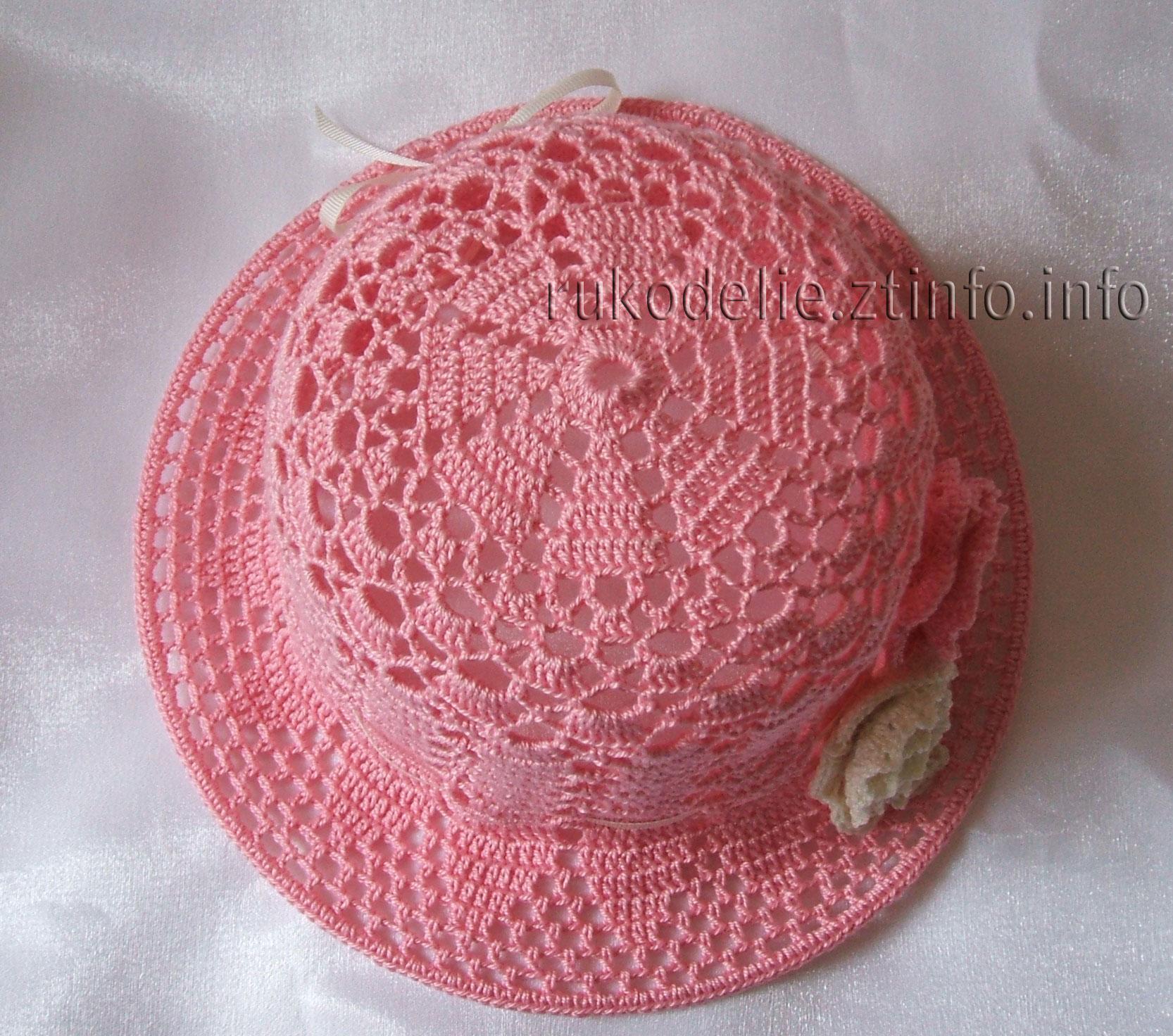 схема поля шляпки крючком