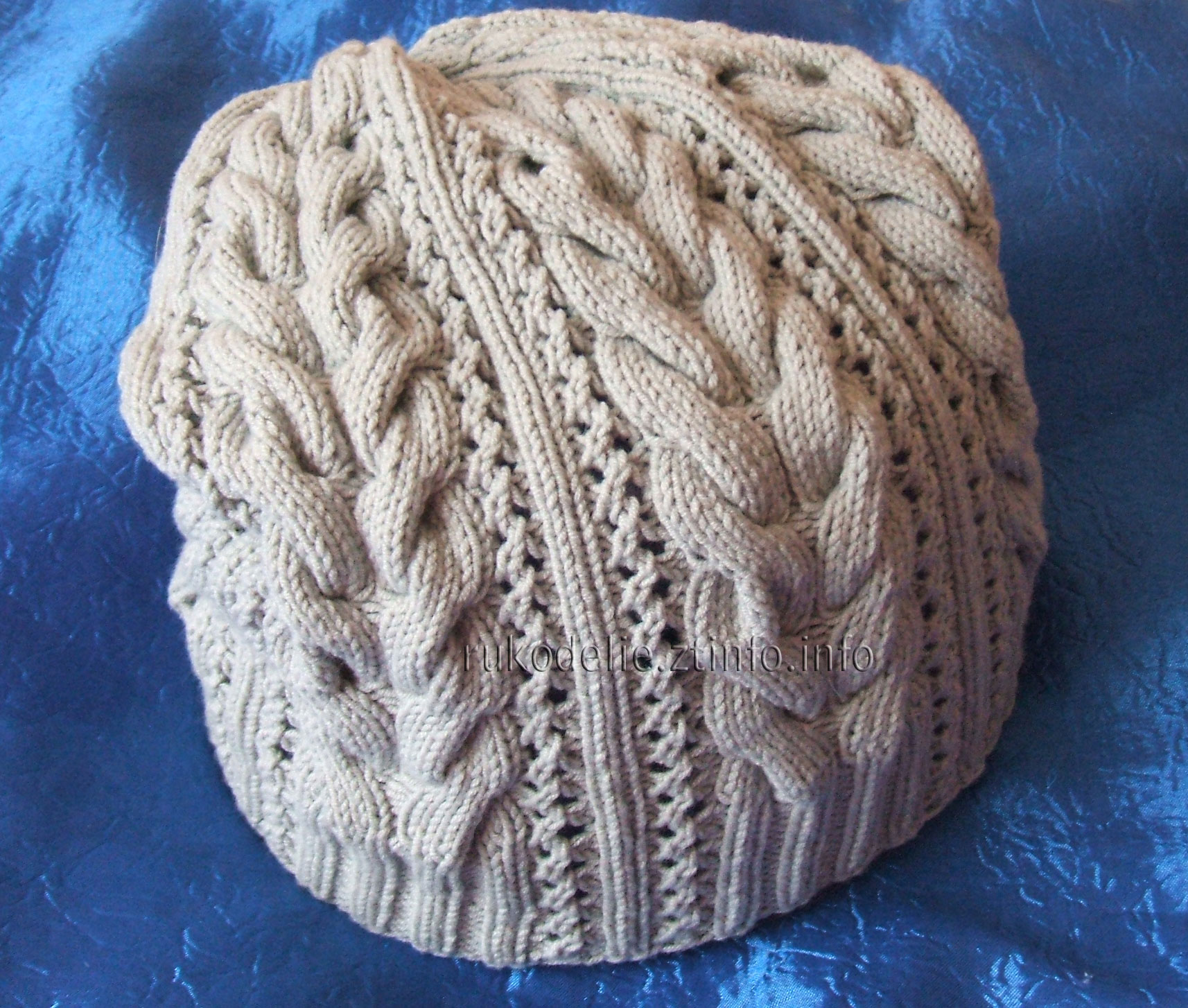 вязание кружевная шапочка схема