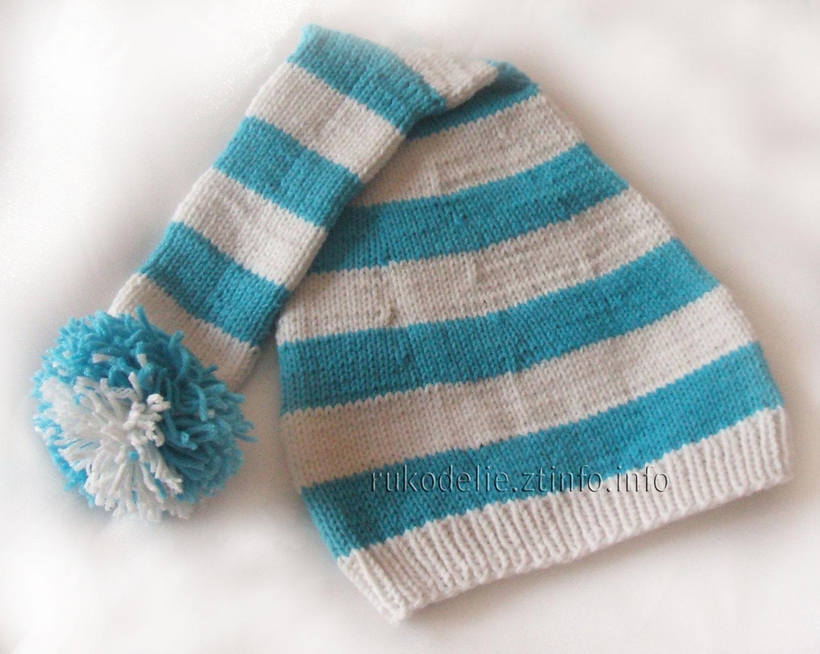 Детская шапочка колпак гномик для