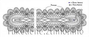 схема шарфика
