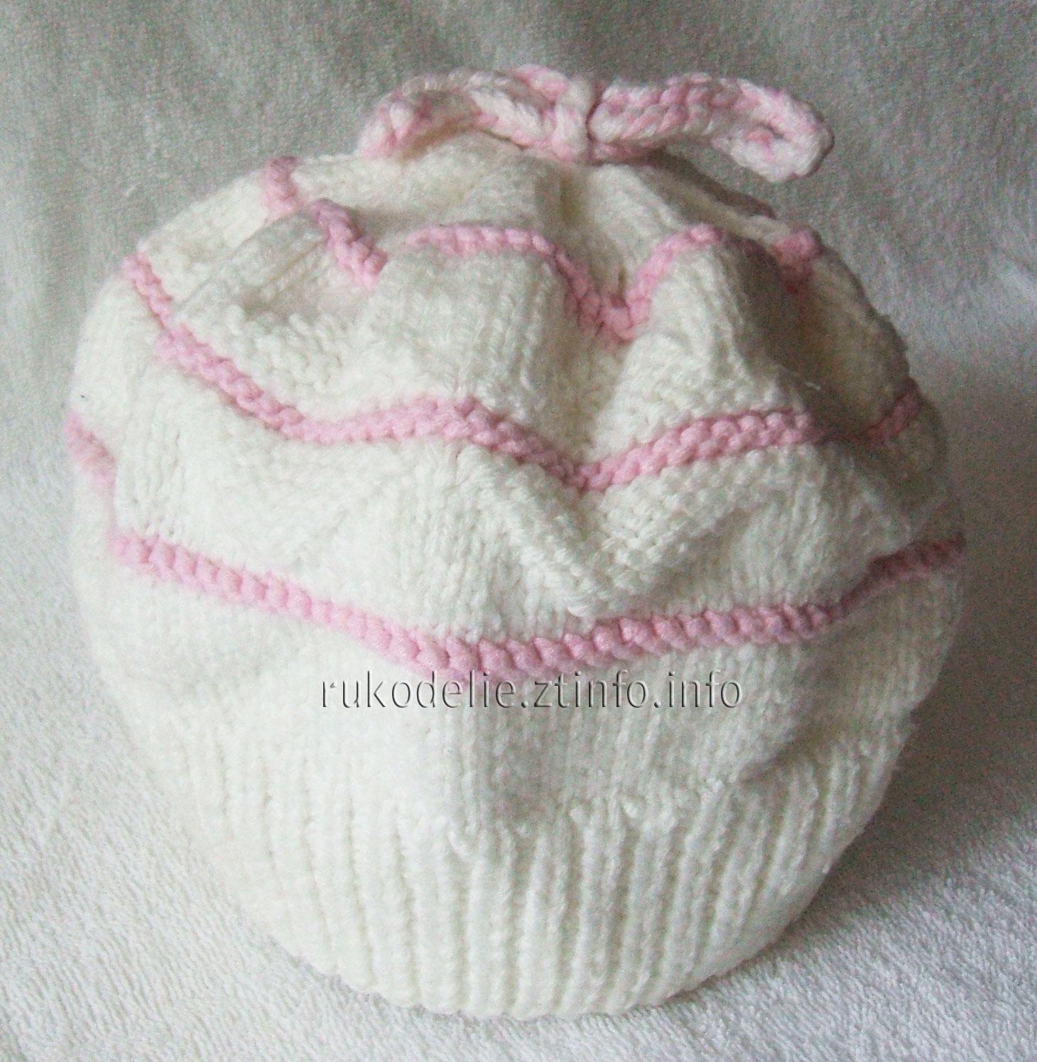 шарфик для малышки спицами схема