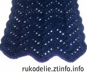 Ажурный-шарф-крючком