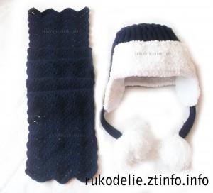 Зимняя-шапка-и-шарф-для-женщин