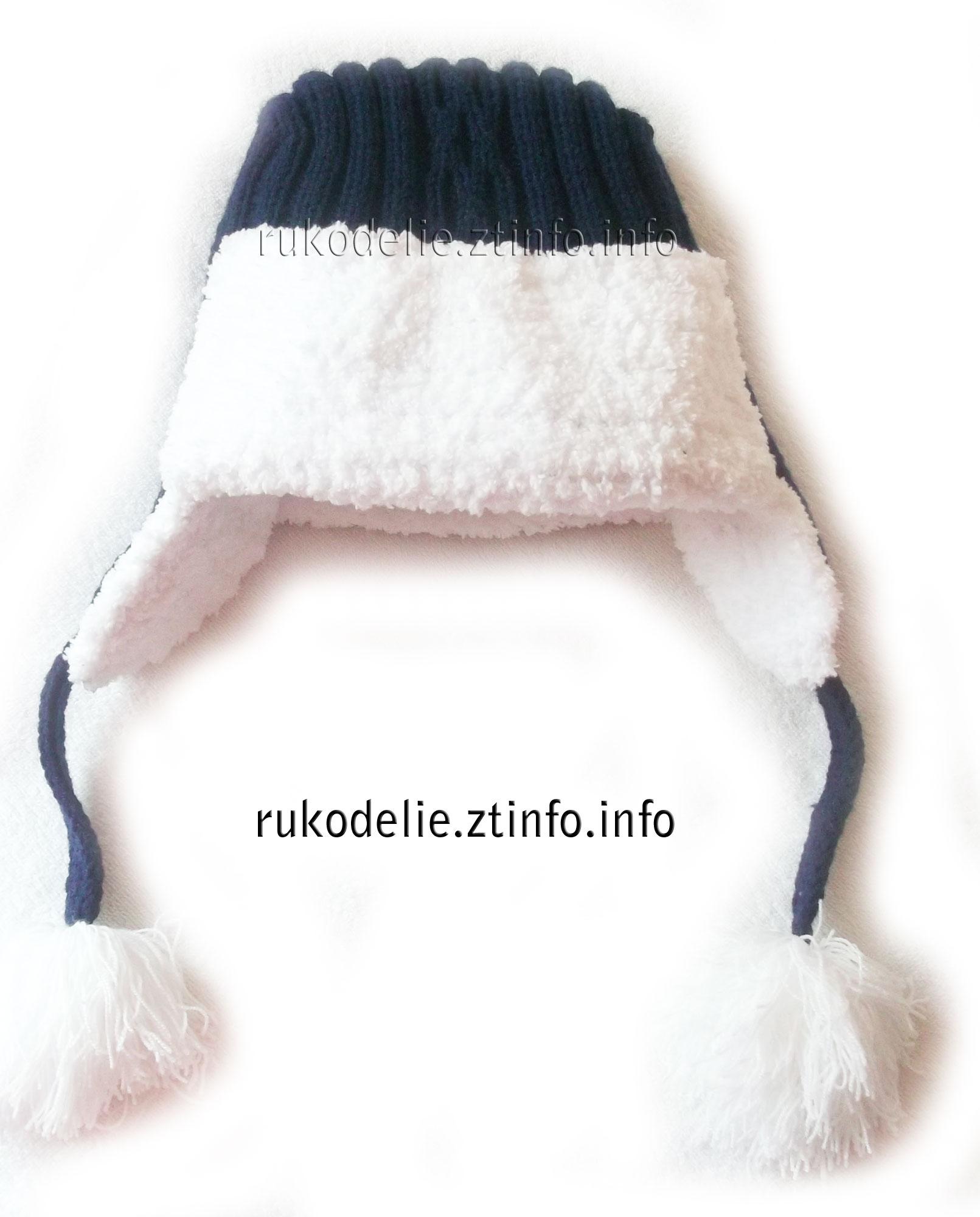 вязанные шапки ушанки для женщин схемы