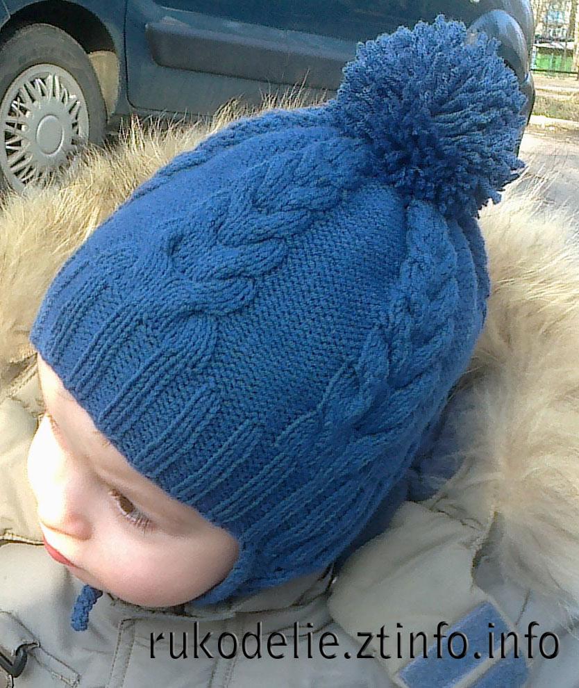вязаные шапки схемы спицами 2014 для мальчиков