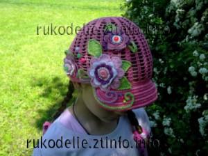 летняя-шапка-для-девочки