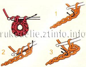 突尼斯钩针(阿富汗针)教程:5 装饰用小兰花(大师班) - maomao - 我随心动