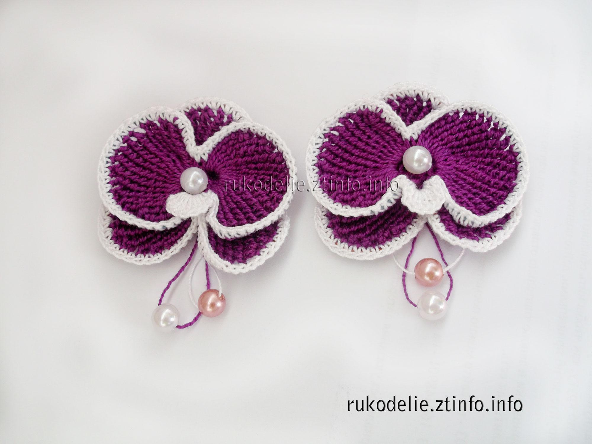 схема вязания крючком цветка лотоса