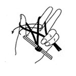 Традиционный способ набора петель спицами