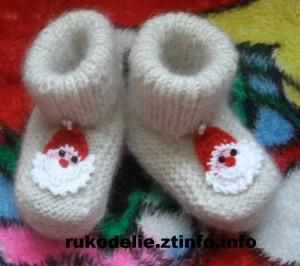 Новогодние носочки Дед Мороз