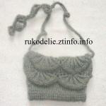Вязанная сумочка для девочки