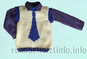 Жилет-с-галстуком